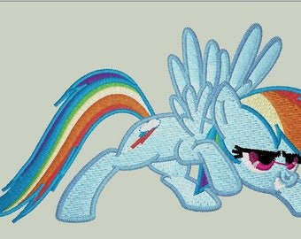 Rainbow Dash My little pony friendship is magic file embroidery and cut design studio3 svg pdf files dst exp vip jef hus xxx pec pes