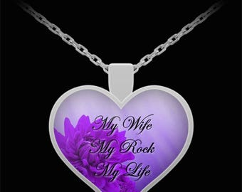 Wife birthday gift etsy wife jewelry wife necklace heart necklace wife valentines gift my wife my negle Choice Image