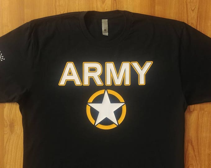 Army - Army Short Sleeve Shirt - Mens Army Shirt - Womens Army Shirt - Army National Guard - Army Veteran - Army Wife - Invasion Star