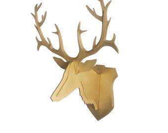 Hirsch 3D Wooden Deer Head