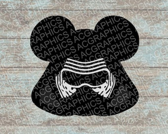 Kylo Ren Mouse Head SVG, DXF, JPEG, and Studio Downloads