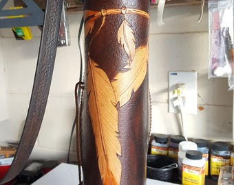 leather side quiver