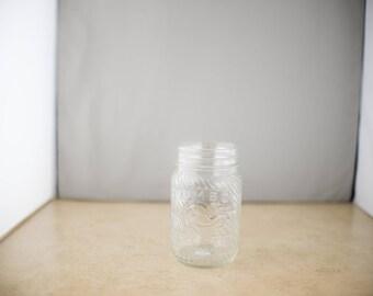 Jumbo Brand Peanut Butter Vintage Glass Jar