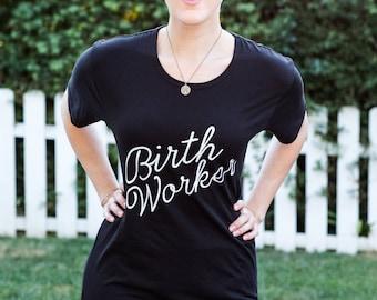 Birth Worker T-Shirt in Black