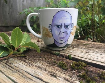 Voldemort Mug, hand painted cup, handmade, perfect gift, magical