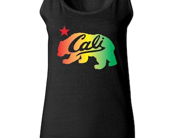 Cali Colorful Bear California Women Tank Top Sleeveless Tops Best Seller Designed Women Tanks