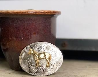Montana Silversmiths Western Horse Small Belt Buckle
