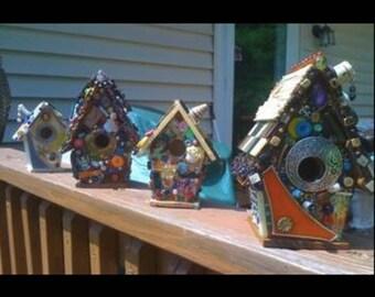 Adorable Hand Adorned Decorative Birdhouse