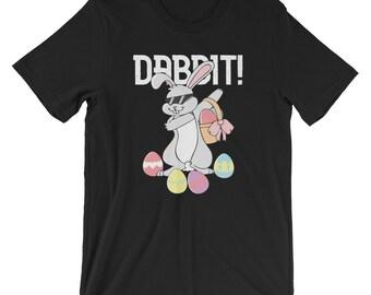 Dabbing Rabbit - Dabbit T-Shirt UNISEX Funny Dabbing Hip Hop Easter Bunny Shirt for men and women Funny Easter Bunny Gift