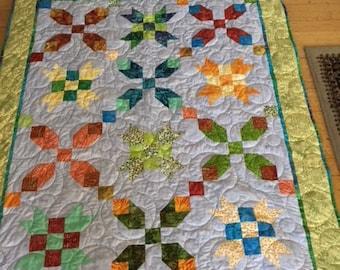 Batik X's Quilt, Batik Quilts, Homemade Quilts, Modern Batik Quilt, Quilts for Gifts