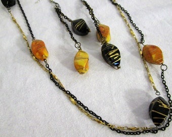 Black and Gold Vintage Jewelry