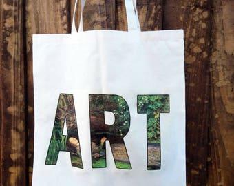 "Art ""Ophelia"" - printed cotton tote bag"