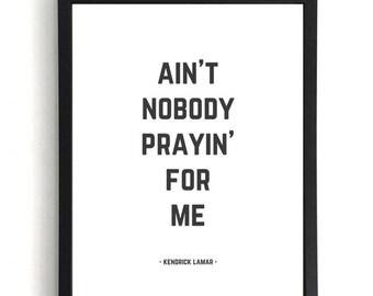 FEEL - Kendrick Lamar Print
