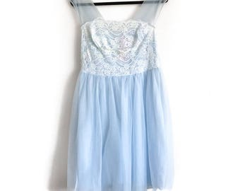 vintage lace babydoll nightie 1950's 1960's