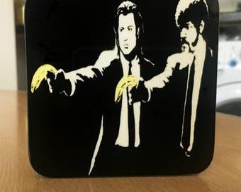 Banksy Coaster #5 - Banksy Gift - Banksy Coaster - Custom Coaster -Gift for Her - Gift For Him - Fridge Magnets - Banksy Magnet - Souvenir