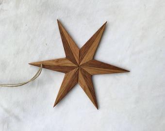 Wood star ornament