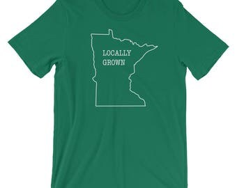 Locally Grown - Minnesota Funny Mens Gift Tee Short-Sleeve Unisex T-Shirt