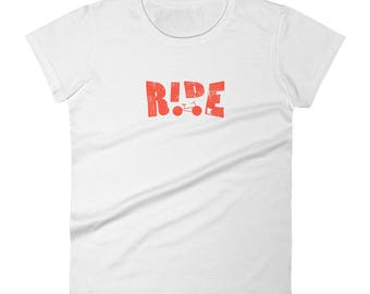 Ride - Minnesota Bicycle Riders - Road Bike, Mountain, Cyclist Women's Short Sleeve T-Shirt
