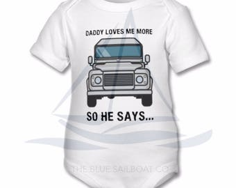 Land Rover BabyGrow, One Life Live It, Land Rover, Defender, Truck, Novelty BabyGrow, Cars, Defender T-Shirt, Land Rover BabyGrow