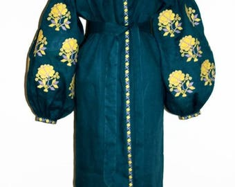 Ukrainian Vyshyvanka Dress Vishivanka Ukrainian Embroidery Bohemian Dresses Kaftan Abaya Boho Clothing Ethnic Ukraine Boho chic Clothes