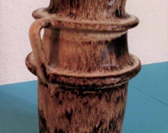 Dutch earthenware vase 1960s Loré Beesel ceramic lava