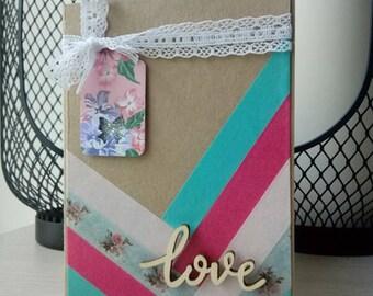 "Card ""Love"" kraft & colors"
