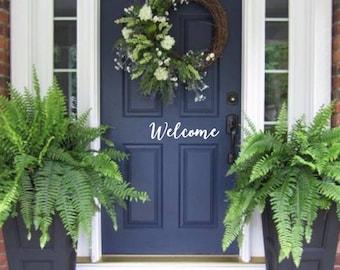 Welcome Door Decal