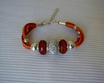 Brown Alcantara Bracelet