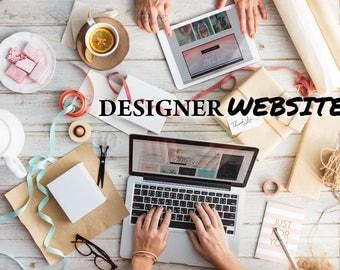Designer Website - Designer website with personal domain - Custom design website