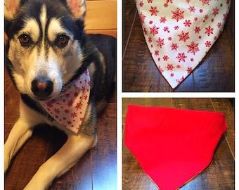 Slip-on Reversible Dog Cat Pet Bandannas XXS-3XL