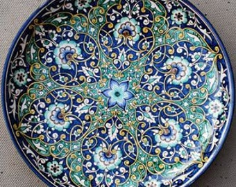 """Central Asian traditional """"lagaan"""" - a big plate with handwritten ornaments"""