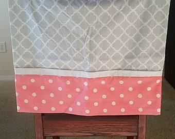 Gray and Peach Pillowcase