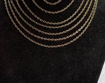 "14"" Bronze Chain necklace"