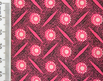 Shweshwe - South African Cotton - My Fussy Pink - Pink and White.