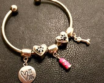 Dog Lovers Silver Bracelet/Bangle