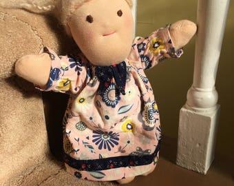 Waldorf doll, Cloth doll, Handmade doll, Steiner doll, Girl doll, Ragdoll, 10 inch doll