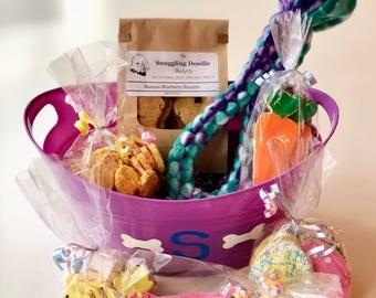 Dog gift basket etsy ultimate easter basket for dogs grain free negle Images