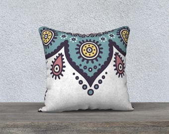 Decorative pillow cover, colorful pillow, living room, illustration, mandalas, cushion, pillows, pillow for living room, livingroom design