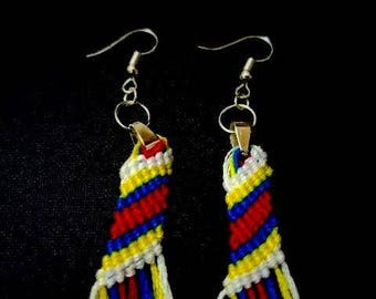 Handmade accessories in the USVI Flag colours