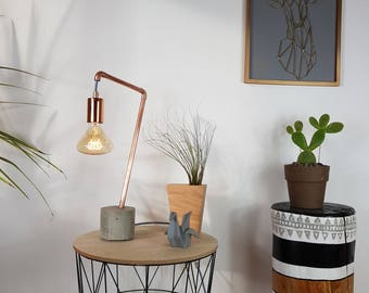"""Lamp concrete & copper """"MINKA"""""""