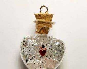 Heart Cork Bottle Resin Charm