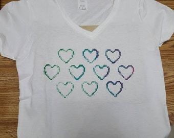 Pixel Love Heart Tshirt