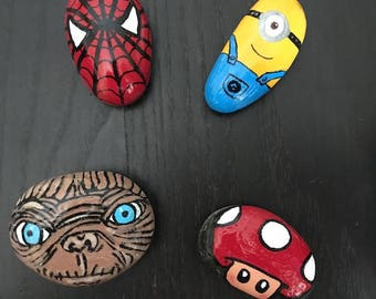 Your favorite character painted rock