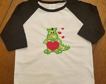 Boy's Valentines Day Shirt - Dragon Love- Dragons