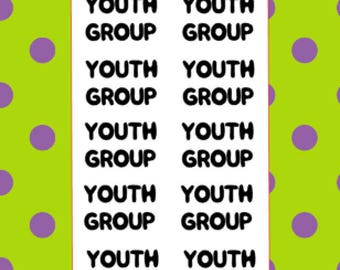 Youth Group | Words Sheet