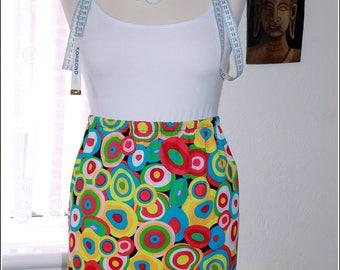 Handmade 1960s psychedelic skirt.