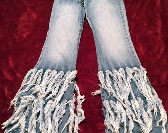 Funky Shagg Bottom Jeans Junior size 1  90's Todd Oldham