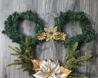 Disney Holiday Wreath (Green and Gold)