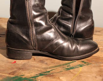 Vintage 60's Chelsea Ankle Boots   Mod Boots   Size 7.5 Mens US   butter Soft Leather