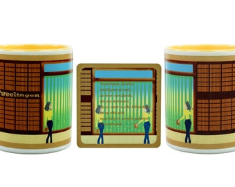 Birthday gift-Twins-coffee mug + coaster